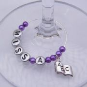 ABC Book Personalised Wine Glass Charm